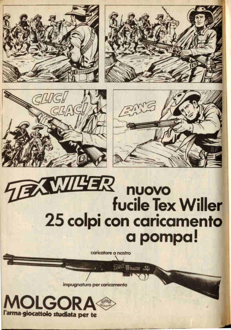 Il fucile Tex Willer della Molgora
