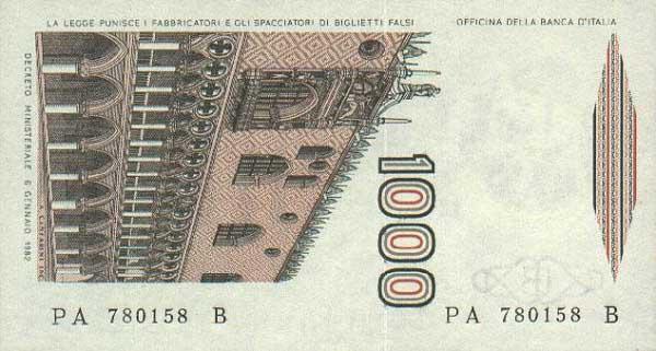 Le banconote in lire dagli anni 39 40 al 2000 for Quanto costa aggiornare la carta di soggiorno
