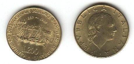 monete 200lire1989taranto