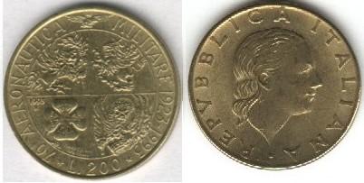 monete 200lire1993aereonautica100
