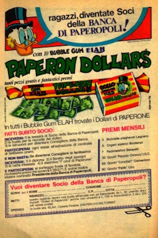 Gomme da masticare - concorso brooklyn-paperon dollars