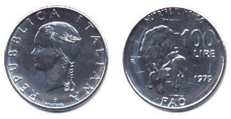 monete 100 lire 1979 fao