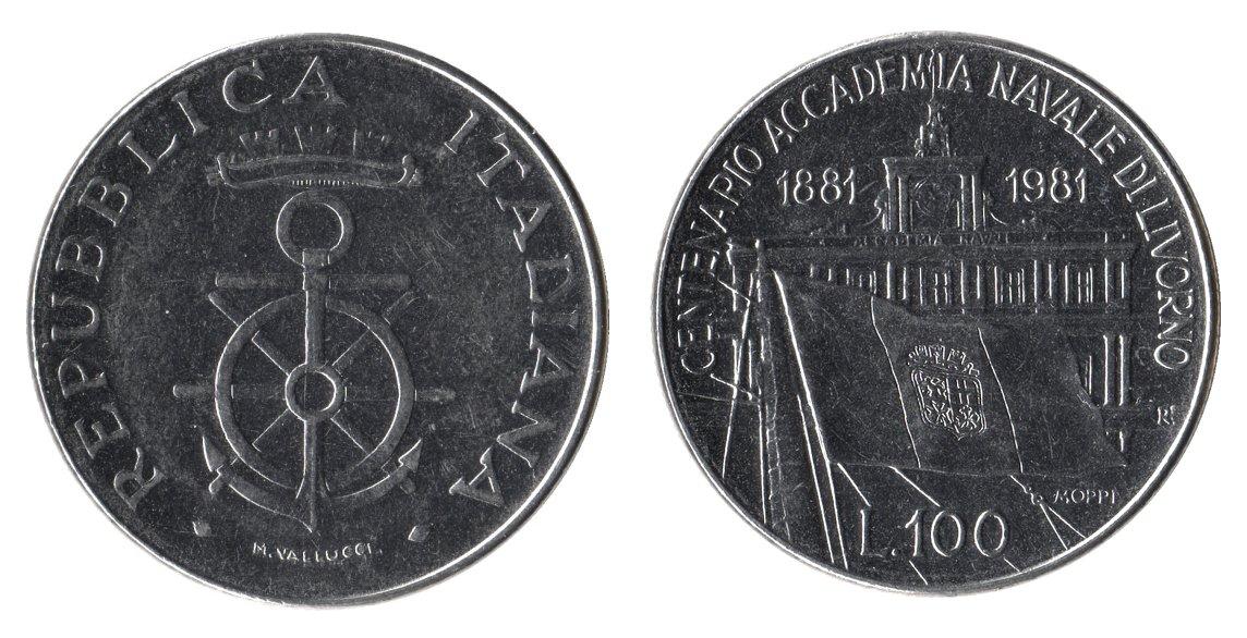 monete 100 lire 1981 livorno