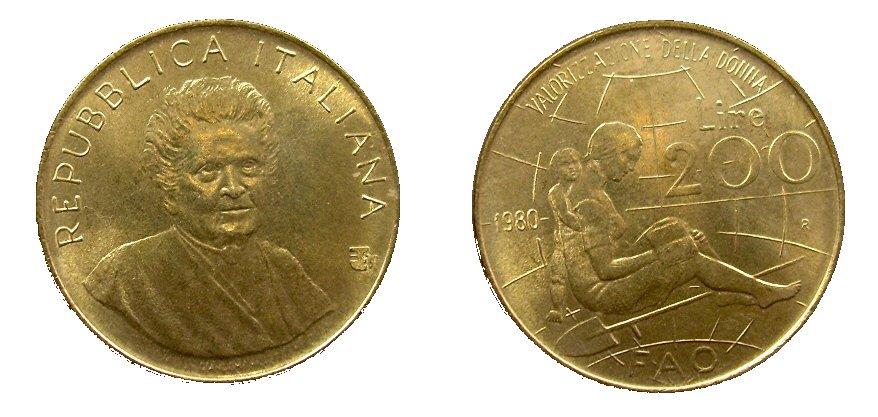monete 200 lire 1980 fao