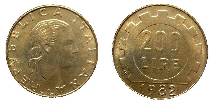 monete 200 lire 1982