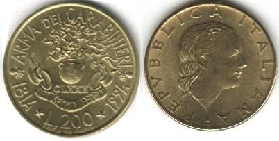 monete 200lire1994carabinieri100