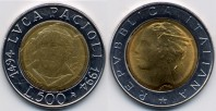 monete 500lire1994_luca_pacioli_96