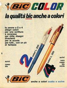 Biro BIC-adv 4 colori