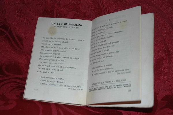Libretto canzoni Sanremo 2