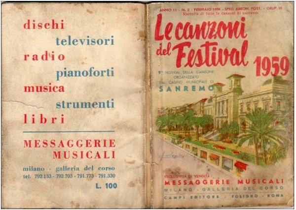 Libretto canzoni Sanremo 6